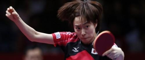 5月5日、卓球の世界選手権団体戦、女子決勝で日本は中国に0―3で敗戦。43年ぶりの優勝を逃した。写真は日本の石川佳純。都内で撮影(2014年 ロイター/Toru Hanai)